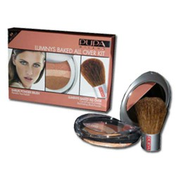 Luminys Baked All Over Kit Red Gold 04 Pupa - 1 Coffret Poudre † 1 Pinceau Poudre Visage Kabuki