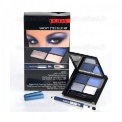 4Eyes Smoky Eyes Blue Kit Multiplay Pupa n°04 Bleu - Kit 2 produits
