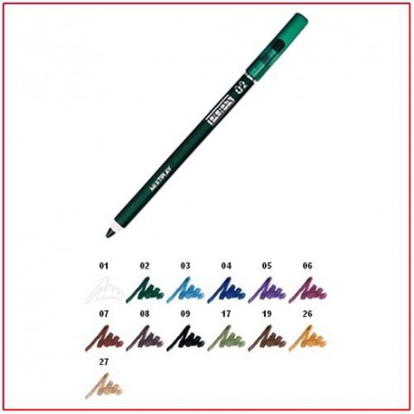 MULTIPLAY - Eye Pencil with Shading Sponge Electric Green 02 Pupa