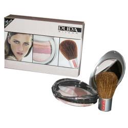 Luminys Baked All Over Kit Stripes Rose 01 Pupa - 1 Coffret Poudre † 1 Pinceau Poudre Visage Kabuki