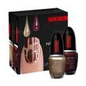 Nail Art Kit Or et Rouge Noir Pupa - Kit 2 flacons