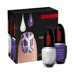 Nail Art Kit White et Violet Pupa - Kit 2 flacons