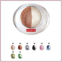 LUMINYS DUO BAKED EYESHADOW - Compact Eye Shadow Duo Sand Doré 01 Pupa